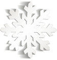 Snowflakes cut from paper Christmas icon Isolated vector image