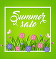 summer background with flowers vector image vector image