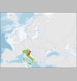 the italian republic location on europe map vector image