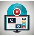 tv online design vector image