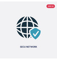 two color secu network icon from programming vector image vector image