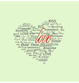 valentine heart created vector image vector image