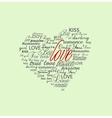 valentine heart created vector image