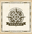 vintage oceanic label vector image vector image
