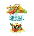 water hills on playground vector image vector image