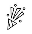 wedding firework icon on white background vector image