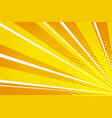 yellow orange pop art rays sunrise vector image vector image