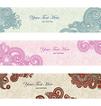 abstract floral banner set design vector image
