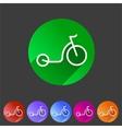 kick bike scooter flat icon web sign symbol logo vector image