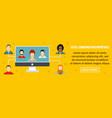 social communication importance banner horizontal vector image