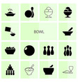 14 bowl icons vector image vector image