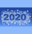 2020 new year blue background pattern of vector image vector image