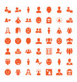 49 avatar icons vector image vector image
