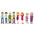 A group of adults vector image vector image