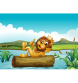 A trunk with a king lion vector | Price: 1 Credit (USD $1)