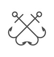 anchor single logo icon separate isolated vector image vector image