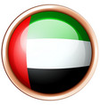 Arab emirates flag on round badge