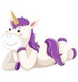ba unicorn character on white background vector image