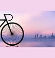 bike silhouette vector image vector image