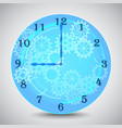 blue mechanical clock with gears on grey vector image