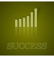 business graph up with text II vector image