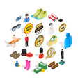 buying clothes icons set isometric style vector image vector image