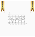 Chart flat icon vector image vector image