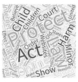 child online protection act Word Cloud Concept vector image vector image