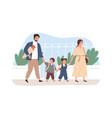 children going to school together vector image vector image