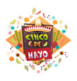 cinco de mayo mexican holiday greeting card vector image