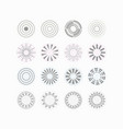 circle vibes and beams icons set on off white vector image vector image