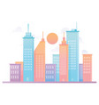 city colorful flat design vector image vector image