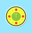 clock watch showing midnight icon christmas vector image