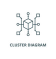 cluster diagram line icon cluster diagram vector image vector image
