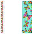 colorful butterflies border background design vector image