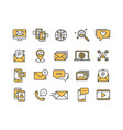 communication social media online chatting vector image vector image