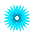 Cornflower stylized logo vector image