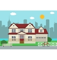 Cottage house building Traditional house Flat vector image