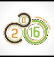 creative New Year 2016 design stock vector image vector image