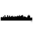 Detroit skyline vector image vector image