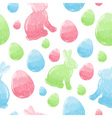 easter eggs and bunnies colorful seamless pattern vector image vector image