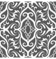 embroidery lace black and white damask seamless vector image vector image
