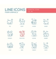 Farm animals - line design icons set vector image