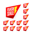 flash sale discount labels vector image vector image