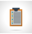Flat color clipboard with document icon vector image