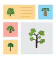 flat icon nature set of decoration tree tree vector image
