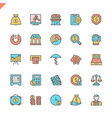 flat line money finance payments elements icons vector image