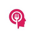 food power head symbol web icon logo template vector image vector image