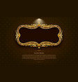 gold frame circle border picture and pattern gold vector image vector image