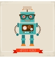 Hipster robot toy icon vector image vector image